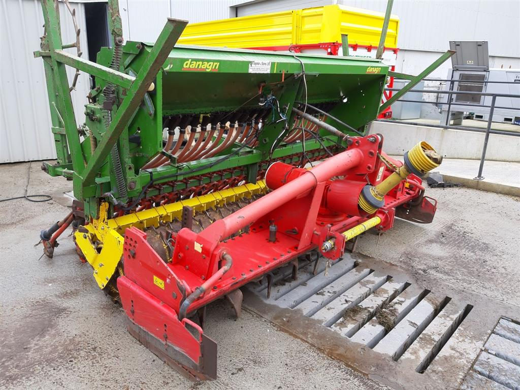 Pottinger 3m Power Harrow c/w Danagri Seed Box