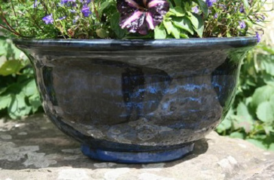 40cm Aegean Glazed Bowl (midnight blue)
