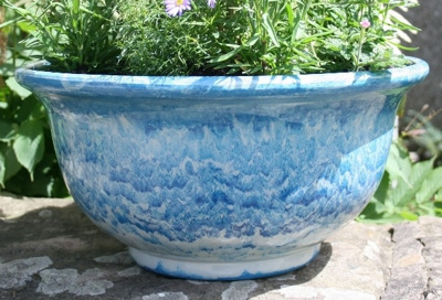 40cm Aegean Glazed Bowl (powder blue)