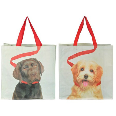 Reusable Dog Design Shopping Bag (choice of 2)