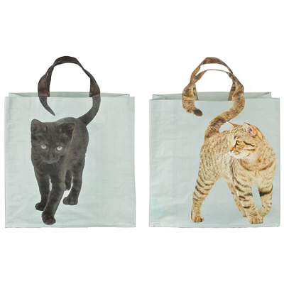 Reuseable Cat Design Shopping Bag (choice of 2)
