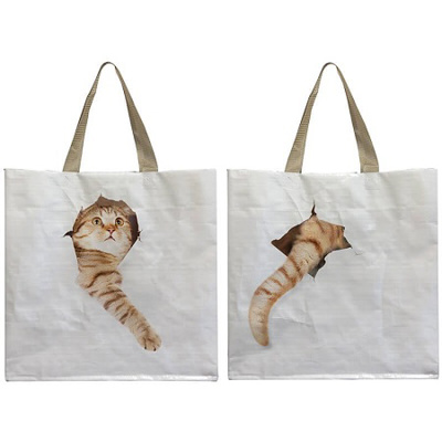 Reuseable Shopping Bag 'Cat Break Through Bag'