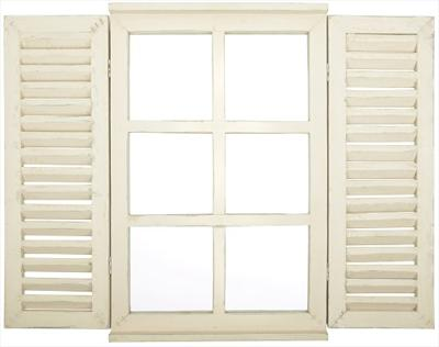 Garden Window style Mirror with Shutter doors