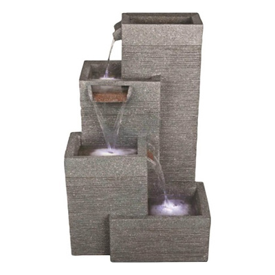 Rectangular Grey Pillars Water Feature (70cm)