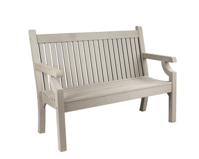 Sandwick Wood Effect 2 Seater Bench (stone grey)