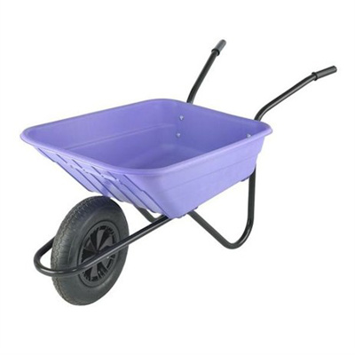 Lilac Coloured Plastic Wheelbarrow
