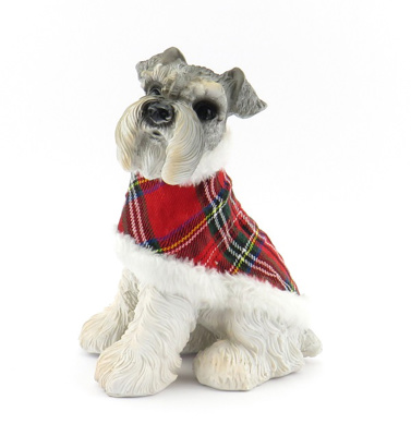 18cm Dog with Tartan Coat