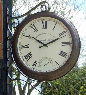 Greenwich St Wall Clock/Ther