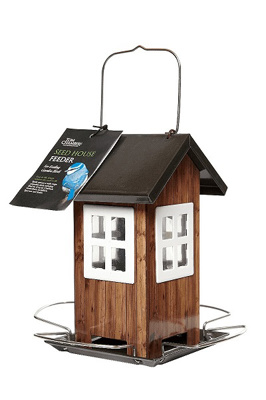 Brown Seed House Bird Feeder