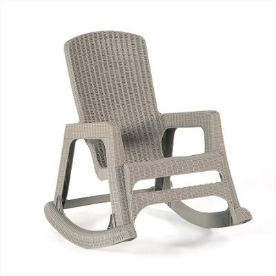 Davos Rocking Chair (Plastic Wood-Effect)
