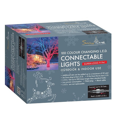 100 LED Connectable Multi Coloured