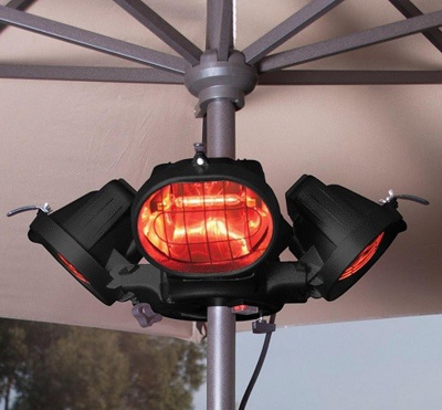 4 Source Parasol Mounted Electric Heater