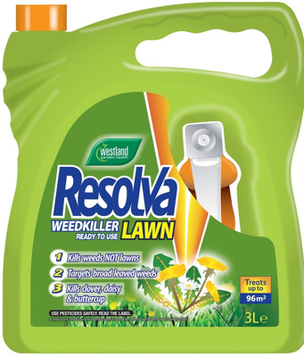 Resolva Lawn Weedkiller Ready To Use 3ltr