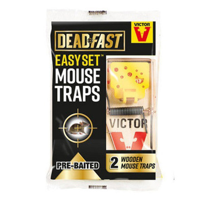 DeadFast Easy Set Twin Wooden Mouse Traps
