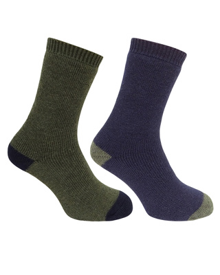 HOGGS COUNTRY SHORT SOCKS (TWIN PACK)