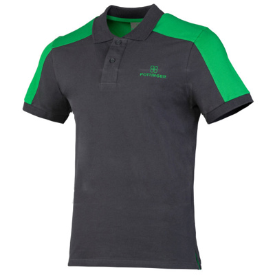 Polo Shirt Grey/Green X Large