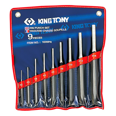 King Tony 1009PR 9Pc.Pin Punch Set