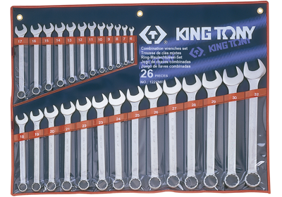King Tony 26pc. Metric Comb. Spanner Set