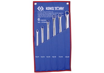King Tony 6pc. Extra Long Ring Spanner Set