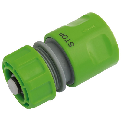 "Draper 1/2""Hose Connector With Water Stop"