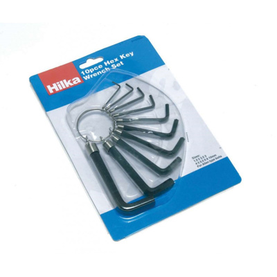 Hilka 10Pc Hex Key Set mm
