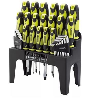 44Pc S. Driver Set+Stand Green