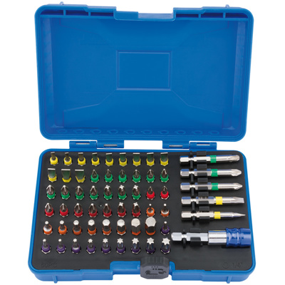 60pc.Coloured Screwdriver Bit Set