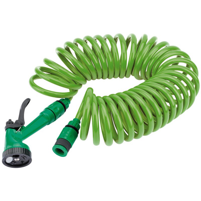 Draper Recoil Hose With Spray Gun (10m)