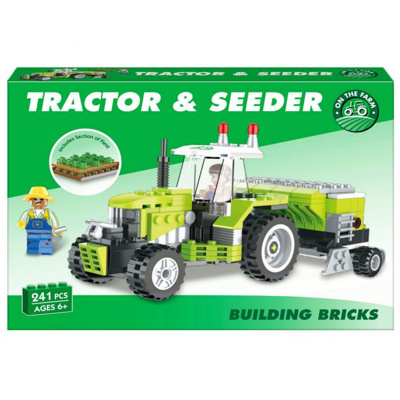 259pc Tractor & Seeder Brick Set