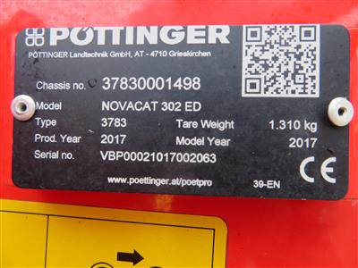 2017 Pottinger Novacat 302 ED Mower